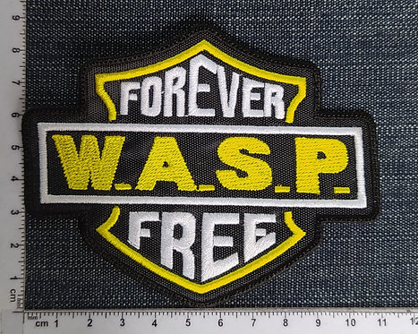 W.A.S.P. - FOREVER FREE EMBROIDERED PATCH