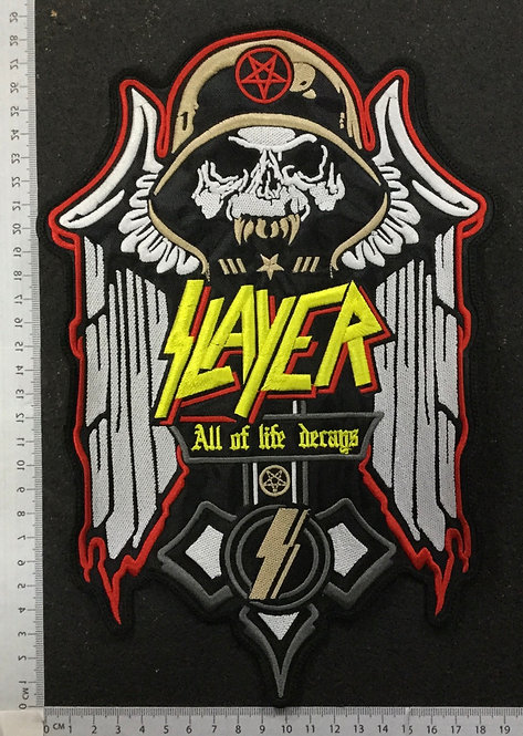 SLAYER - ALL OF LIFE DECAYS EMBROIDERED PATCH