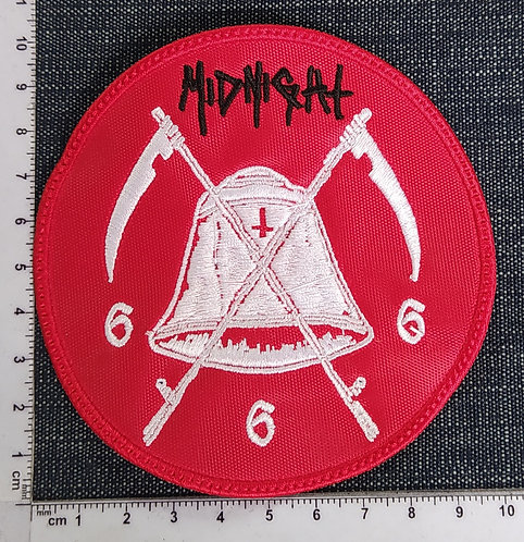 MIDNIGHT - FAREWELL TO HELL CIRCLE EMBROIDERED PATCH