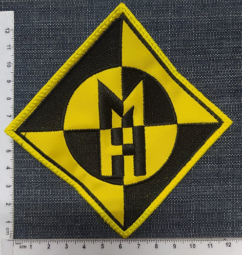 MACHINE HEAD - SQUARE MH LOGO EMBROIDERED PATCH