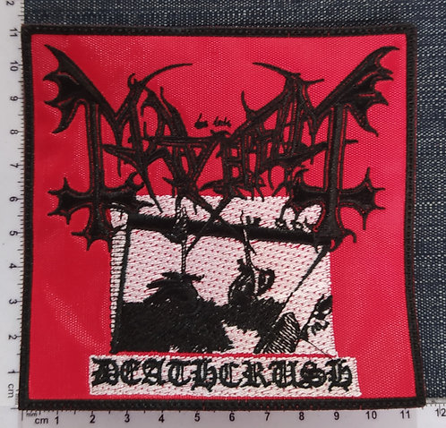 MAYHEM - DEATHCRUSH PORTADA EMBROIDERED PATCH