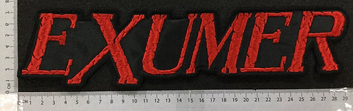 EXUMER -  LOGO EMBROIDERED BACK PATCH