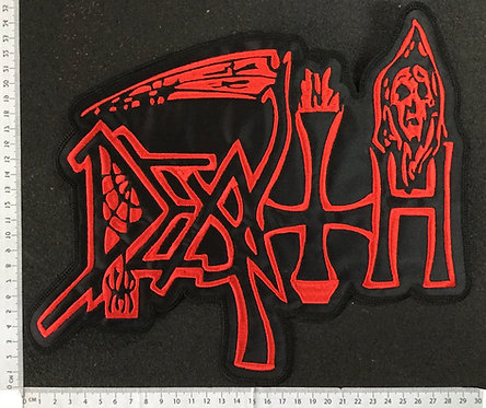 DEATH - OLD LOGO EMBROIDERED BACK PATCH