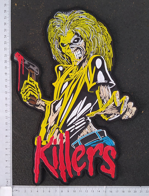 IRON MAIDEN - KILLERS LOGO EMBROIDERED BACK PATCH