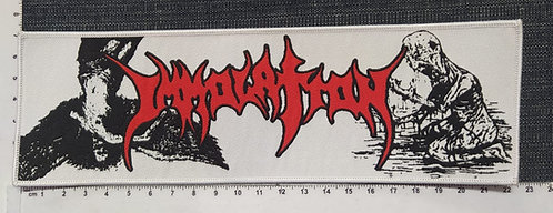 IMMOLATION - STRIP WOVEN PATCH
