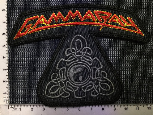 GAMMA RAY - SHAPED LOGO EMBROIDERED PATCH