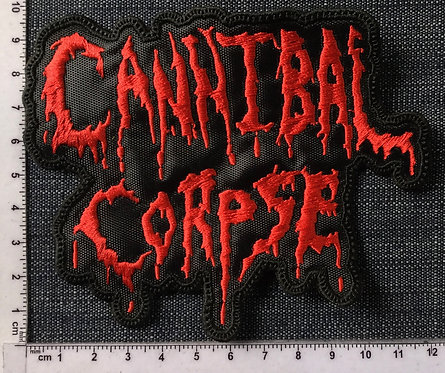 CANNIBAL CORPSE - LOGO SHAPED EMBROIDERED PATCH