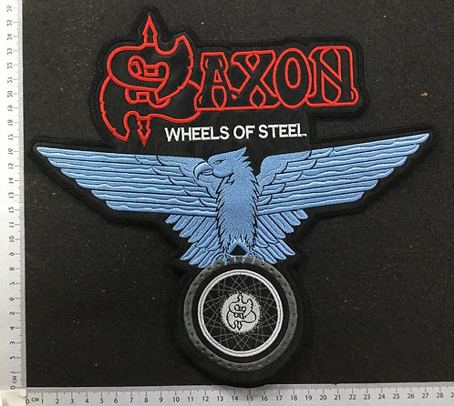 SAXON - WEELS OF STEEL EMBROIDERED BACK PATCH