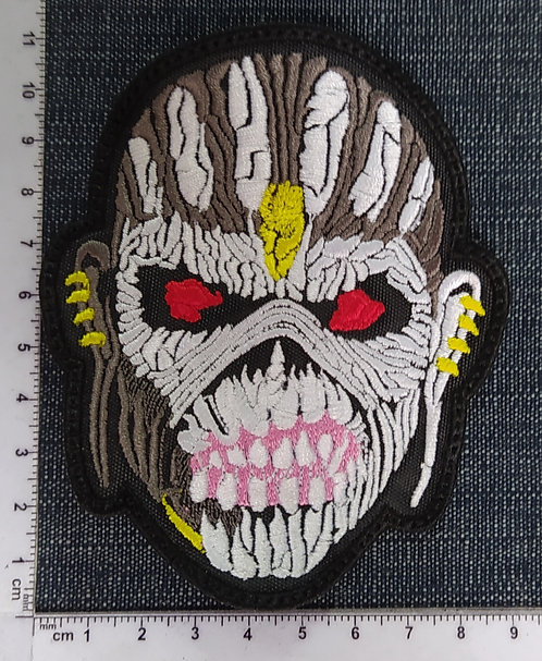IRON MAIDEN - EDDIE FACE THE BOOK OF SOULS EMBROIDERED PATCH