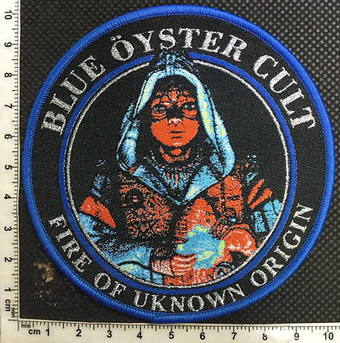 BLUE OYSTER CULT - FIRE OF UNKNOWN ORIGIN WOVEN PATCH