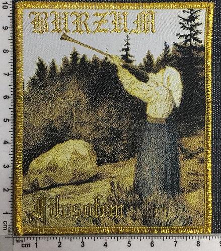 BURZUM - FILOSOFEM  WOVEN PATCH (Golden border)