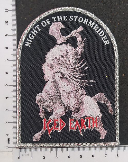 ICED EARTH - NIGHT OF THE STORMRIDER WOVEN PATCH