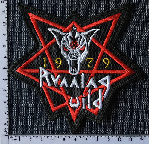 RUNNING WILD - 1979 EMBROIDERED PATCH