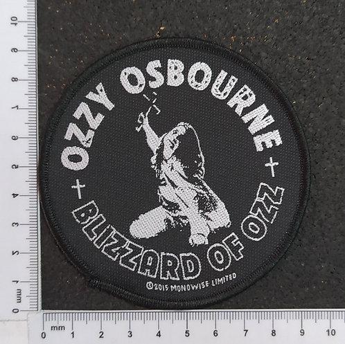 OZZY OSBOURNE - BLIZZARD OF OZZ WOVEN PATCH