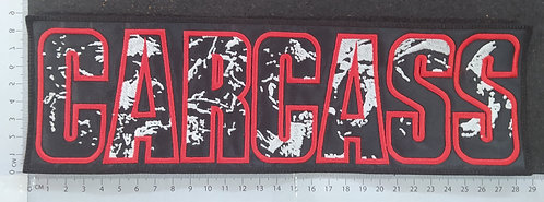 CARCASS - STRIP LOGO EMBROIDERED BACK PATCH
