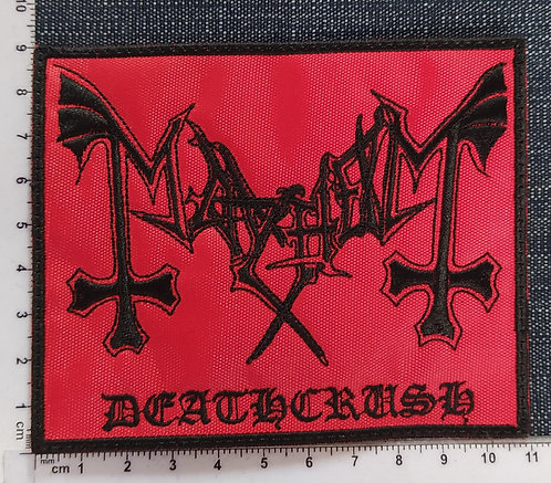 MAYHEM - DEATCRUSH LOGO EMBROIDERED PATCH