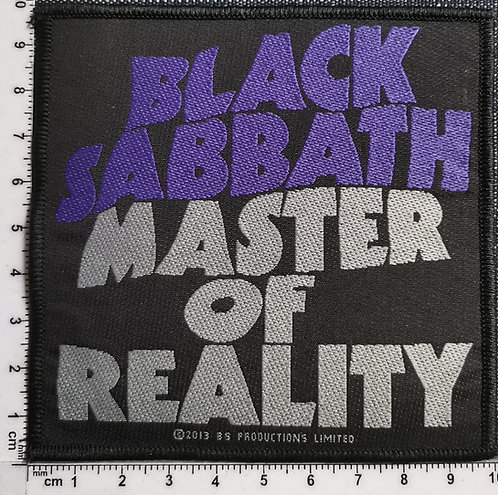 BLACK SABBATH  - Master of Reality Woven Patch