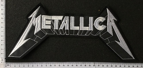 METALLICA - LOGO EMBROIDERED BACK PATCH