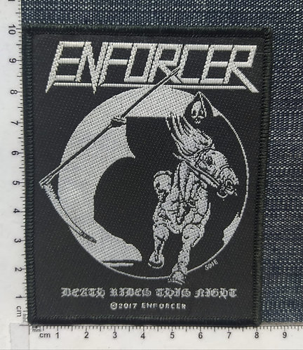 ENFORCER - DEATH RIDES THIS NIGHT WOVEN PATCH