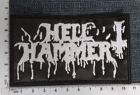 HELLHAMMER - BLOODY LOGO EMBROIDERED PATCH