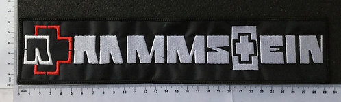 RAMMSTEIN - LOGO EMBROIDERED BACK PATCH