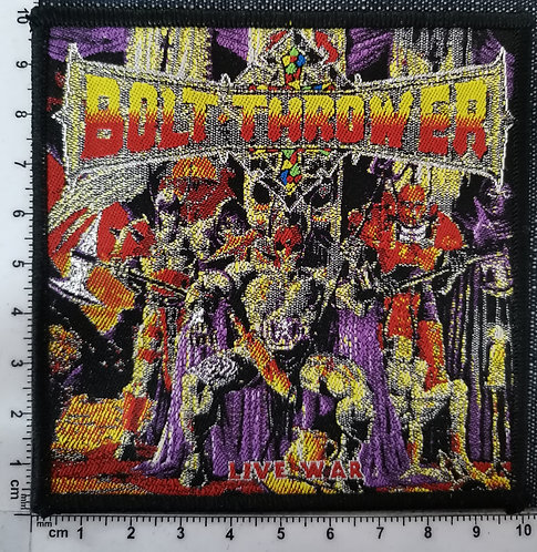 BOLT THROWER - Live Wire Woven Patch