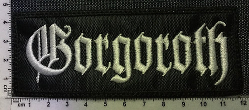 GORGOROTH - LOGO EMBROIDERED PATCH