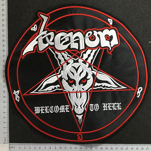 VENOM - WELCOME TO HELL EMBROIDERED BACK PATCH