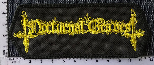 NOCTURNAL GRAVES - LOGO EMBROIDERED PATCH