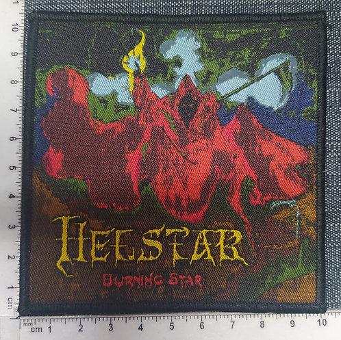 HELLSTAR - BURNING STAR WOVEN PATCH
