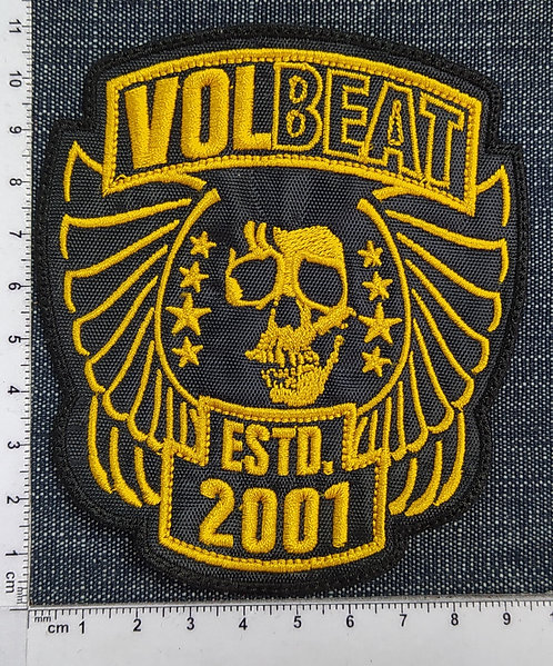 VOLBEAT - ESTD. 2001 EMBROIDERED PATCH