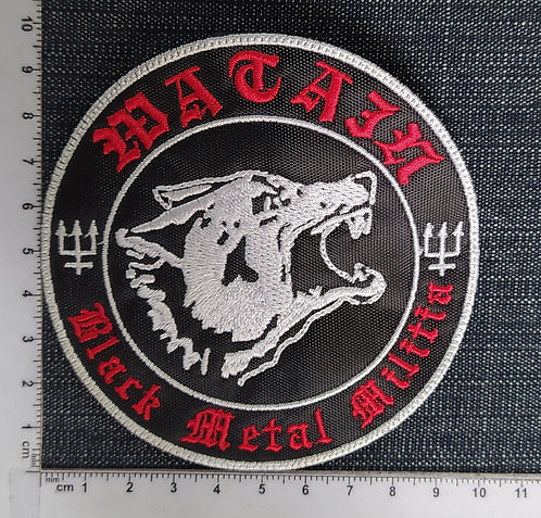 WATAIN - BLACK METAL MILITIA EMBROIDERED PATCH
