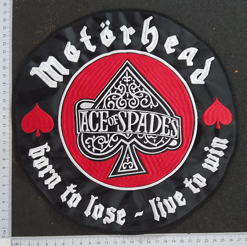 MOTORHEAD - BORN TO LOSE - LIVE TO WIN EMBROIDERED BACK PATCH