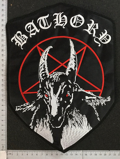 BATHORY - 1984 EMBROIDERED BACK PATCH