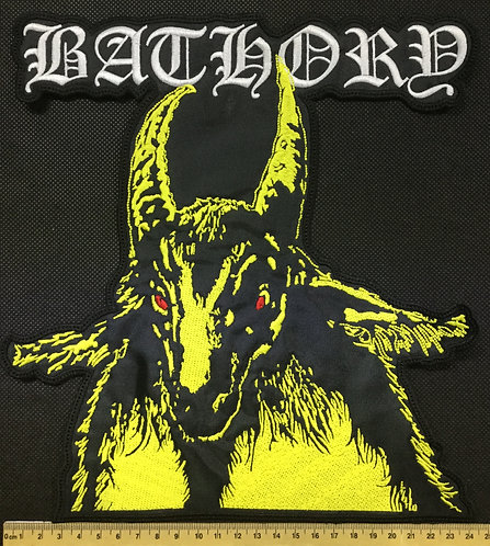 BATHORY - YELLOW GOAT EMBROIDERED BACK PATCH