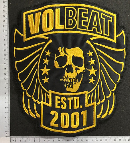 VOLBEAT - ESTD. 2001 - EMBROIDERED BACK PATCH
