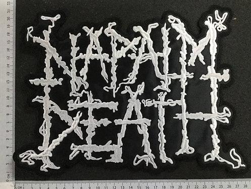 NAPALM DEATH - LOGO EMBROIDERED BACK PATCH