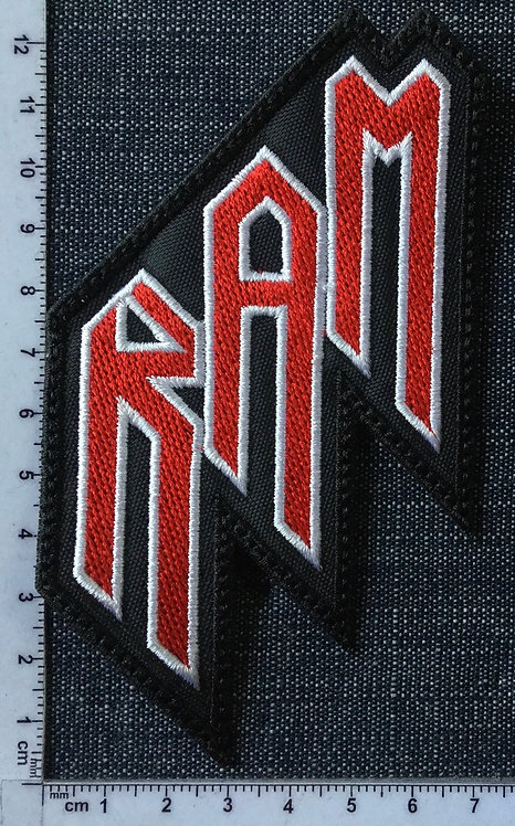 RAM - SHAPE LOGO EMBROIDERED PATCH