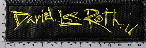 DAVID LEE ROTH - LOGO EMBROIDERED PATCH