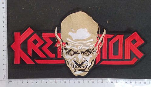 KREATOR - LOGO FACE EMBROIDERED BACKPATCH