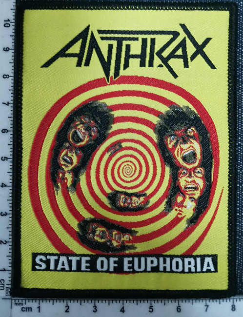 ANTHRAX - State of Euphoria Woven Patch