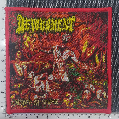 DEVOURMENT - CONCEIVED IN SEWAGE WOVEN PATCH