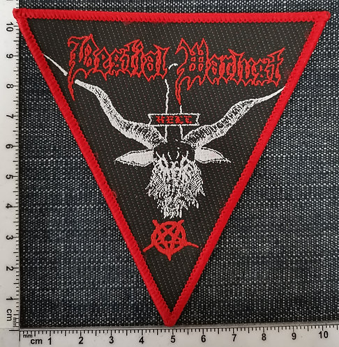 BESTIAL WARLUST - Goat triangle Woven Patch