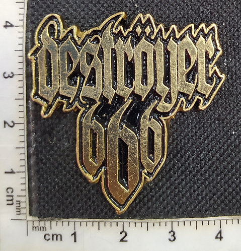 DESTROYER 666 GOLD - METAL PIN