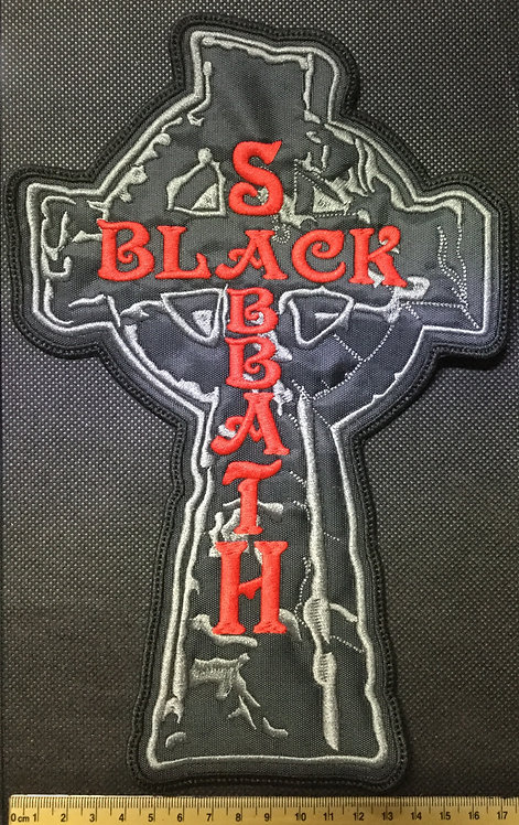 BLACK SABBATH - CROSS LOGO EMBROIDERED BACK PATCH