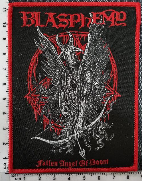 BLASPHEMY - Fallen Angel of doom Woven Patch
