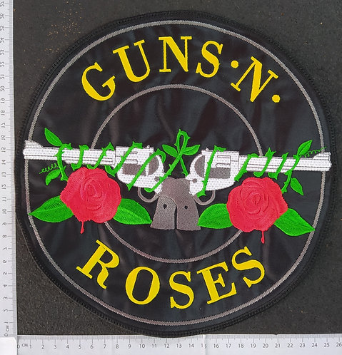 GUNS N' ROSES  - LOGO ROUND EMBROIDERED Back Patch