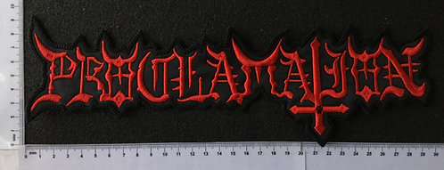 PROCLAMATION - LOGO EMBROIDERED BACK PATCH