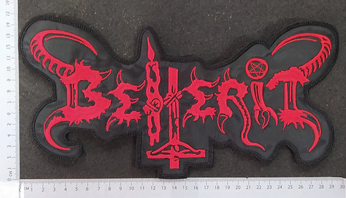 BEHERIT - OLD LOGO BACKSHAPE EMBROIDERED BACK PATCH