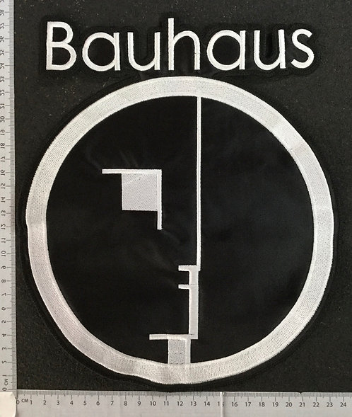 BAUHAUS - LOGO EMBROIDERED BACK PATCH